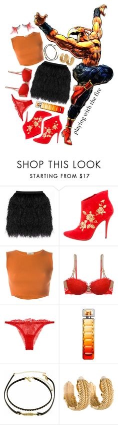 """JBA Stands: Magician's Red"" by freezespell ❤ liked on Polyvore featuring Raoul, Balmain, Romeo Gigli, Heidi Klum, HUGO, Natasha, Givenchy, Inspired, anime and CasualCosplay"