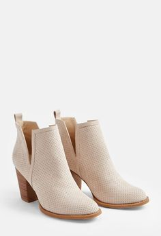 1b9ab0590a4 JustFab Messina Bootie Womens Beige Size 11 Messina