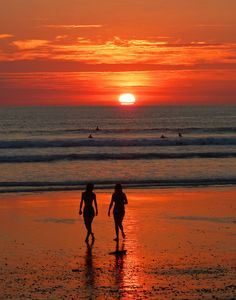 Surf Watching at Sunset in Costa Rica