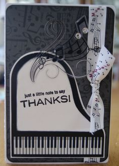 """Note of Thanks"" Music Card - Scrapbook.com"