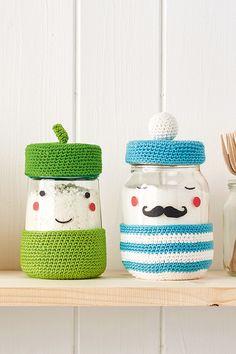 Crochet pattern: How to make a crochet jar cover