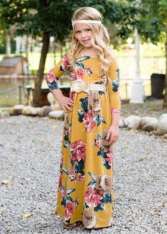 61ff0ed15a79 Kids  Floral Maxi Dress