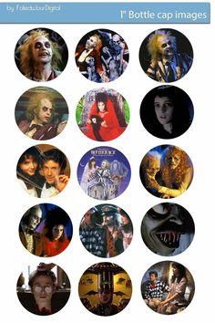 Free Bottle Cap Images: Beetlejuice free digital bottle cap images 1""