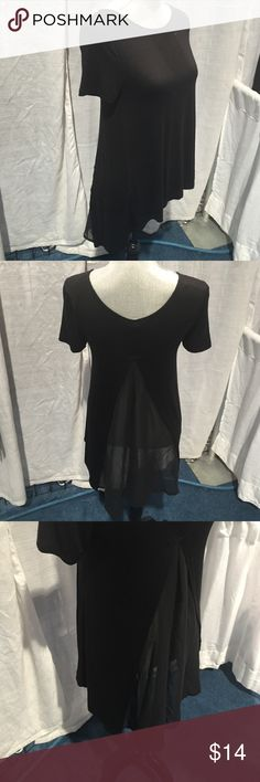 Rt-9431 Beautiful chiffon cut out long back train detail. Short sleeve. Available in black and ivory. Me & My T's Tops Blouses