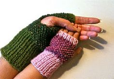 Together in Tweed Wristwarmers | AllFreeKnitting.com