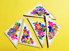 Fairy Bread Craft for Australia Day= a super simple craft for kids recycling cardboard boxes. Perfect to turn into bunting or little necklaces.