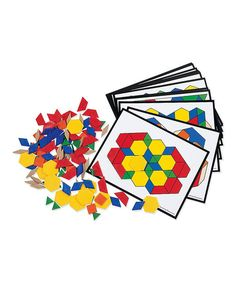 Learning Resources Pattern Block Activity Pack New Wooden Pattern, Math Manipulatives, Little Learners, Learning Resources, Visual Learning, Homeschooling Resources, School Resources, Learning Toys, Preschool Learning