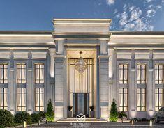 Minimalist House Design, Minimalist Home, Rich Home, House Front Design, Basel, Saudi Arabia, Exterior Design, Villa, Behance