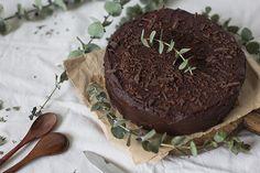 Chocolate cake with dried plum