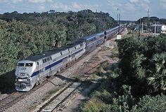 Amtrak's Auto Train (Lorton, VA - Sanford, FL). I took my Jeep on this train and really enjoyed myself.