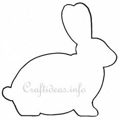 Bunny Template Printable | Here Is Another Bunny Template Found Online Cute Bent Ear Why