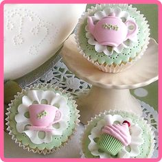 Katy Sue Afternoon Tea Mould Featuring -Teapot, Tea Cup & Cupcake.