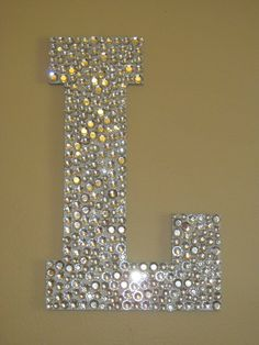 "Rhinestone Monogram Letter ""L"""