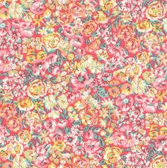 """Liberty Chive G Fabric stoffen Tana Lawn pink yellow green white fat quarter 18"""" x 26.5"""" (45 cm x 67 cm) The Weavers Mill by TheWeaversMill on Etsy"""