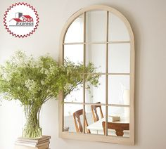 Espejos con apariencia de ventana para dar sensación de amplitud en tu hogar. #TipsExpress de Tu Casa Express.