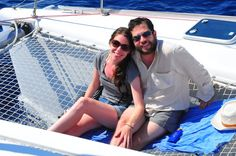 My darlings, thank you for being so sweet about our Italy honeymoon… Cup Of Jo, Sailing Catamaran, Italy Honeymoon, Blue Lagoon, Santorini, Greece, This Is Us, To Go, Places