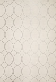 "SONOMA WALLPAPER- ""Light Linen wallpaper with geometric oval design in metallic silver."" *Repeat = 2 1/2"" I love this one!"