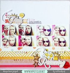 Sharing a cheery layout created by our DT member Irit Landgraf using the goodies in our . All Paper, Paper Art, Scrapbooking Layouts, Scrapbook Pages, Hip Kit Club, Photographs And Memories, Crate Paper, Studio Calico, Smash Book