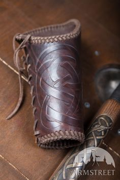 Viking Leather Vambraces. Available in: brown leather, black leather :: by medieval store ArmStreet