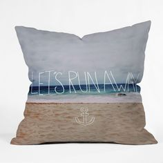 """Lets Run Away III"" Throw Pillow"