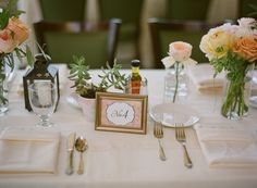 Wedding Table Number