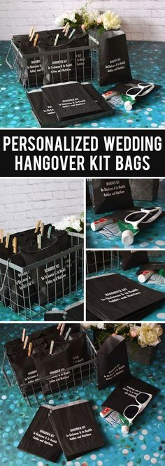 Personalized Wedding Hangover Kit Bags