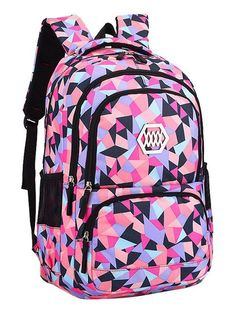light Weight Girls Backpack bags printing