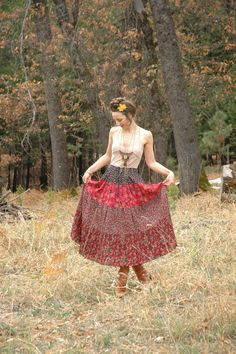 Indian Cotton Maxi Skirt... Broomstick Skirt... Gypsy Skirt... by AstralBoutique, $38.00