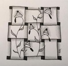 """Tickled To Tangle: """"It's a String Thing"""" #164 Tiles"""