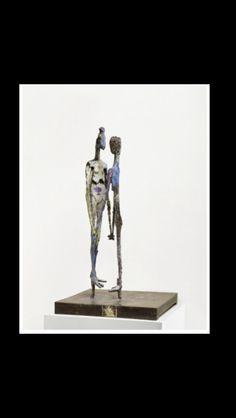 """Germaine Richier - """" Le Couple (painted) """", 1959 - Bronze peint - 139 x 74,5 x 74,5 - Unique"""