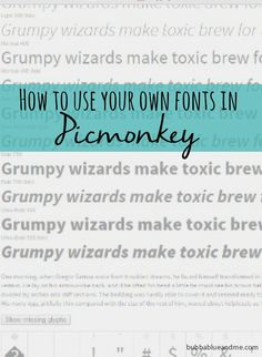 how to use your own fonts in picmonkey - Bubbablue and me The Ultimate Pinterest Party, Week 81