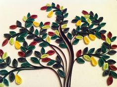 dit is een mooie boom Quilled tree