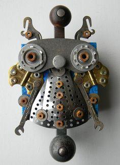 Recycled Art Assemblage     Metal Bug     Orignial by redhardwick,