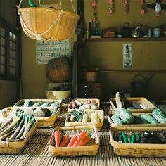 Japanese vegetable store: photo by kajico**, via Flickr