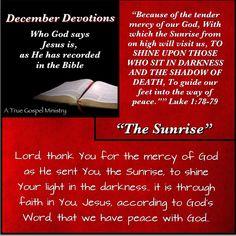 Jesus:The Sunrise #atruegospelministry