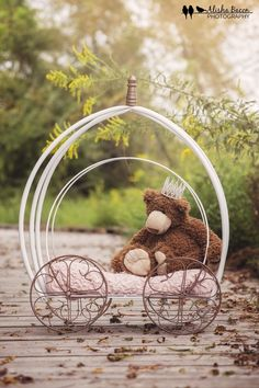 Newborn princess carriage prop DIY