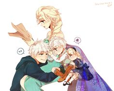 Love how Elsa casuallly reading, like Jack playing with the kids and getting in the way is normal. AWWWWW