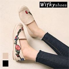 Buy Wifky Embroidered Espadrille Slip-Ons at YesStyle.com! Quality products at remarkable prices. FREE WORLDWIDE SHIPPING on orders over CA$ 45.