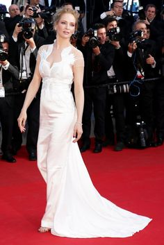 Uma Thurman in Givenchy by Ricardo Tisci Couture | Cannes Film Festival 2014: Red Carpet | Harper's Bazaar