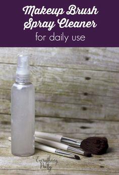 DIY Spray Makeup Brush Cleaner | Everything Pretty