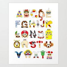 Super Mario Alphabet.