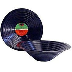 Recycled vinyl record bowl