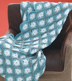 Oh My Throw~ Free pattern & lovely twist on the granny.