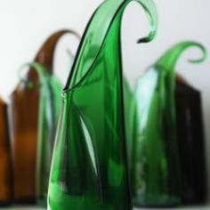 Beutiful vase out of a old glass bottle