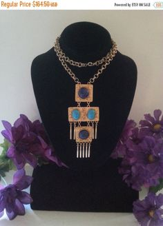 Now On Sale Vintage Statement Necklace 1960's by MartiniMermaid