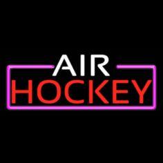 Air Hockey Bar Real Neon Glass Tube Neon Sign - NeonSignsCA.com Air Hockey, Sorority And Fraternity, Custom Design, Tube, Neon Signs, Bar, Glass, Drinkware, Corning Glass