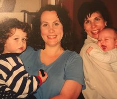 Old family photo du jour. Left to right: mop top baby Joey me my beautiful sister Lisa and laughing baby Ben. Such sweet boys summer of 1999  @_joethepro_ @lisabethsto @benni_stu