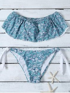 GET $50 NOW   Join RoseGal: Get YOUR $50 NOW!http://m.rosegal.com/bikinis/floral-print-flounce-bikini-set-1049450.html?seid=8156006rg1049450 Bikinis For Sale, Swimwear Cover Ups, Bikini Set, Bikini Swimwear, Bikini Girls, Flounce Bikini, Live Girls, Skirt Pants, Lace Shorts