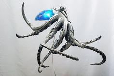 Les enjoliveurs recyclés en oeuvres dart une pieuvre Des oeuvres d art à partir d enjoliveurs recycles 12
