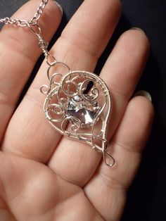 beautiful twisted wire heart